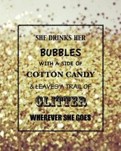 glitter and bubbly