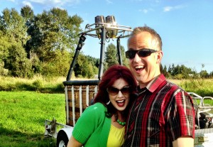 That is pure JOY on our faces as we get ready for our FIRST EVER hot air balloon ride!