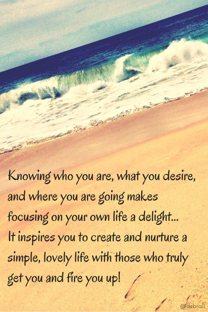 Knowing who you are, what you desire,