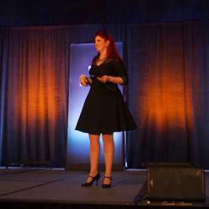 Debra Trappen, professional speaker, presenting her Fire Up! message in Seattle, WA.